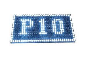Módulo Painel LED P10 Branco 546 Cristal 32x16PX 1/4 scan HUB12 P10(1R) Externo K2519