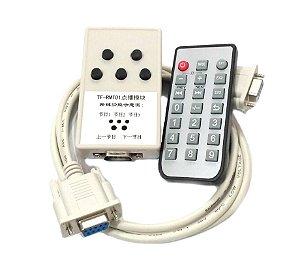 Kit Controle Remoto Serial + IR Modelo TF-RMT01 + Cabo Serial Compatível com Placas TF-xx p/ Painel LED K2641
