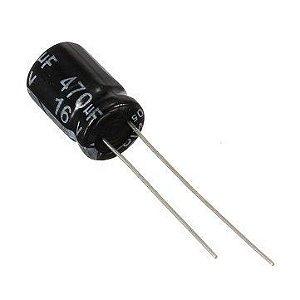 Capacitor Eletrolítico 470UF/16V D8H12 PTH 122528