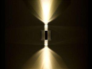 Arandela de Sobrepor 2 Fachos LED 1W Bivolt Crystal Round