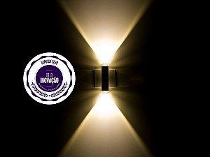 Arandela de Sobrepor 2 Facho LED 1W Bivolt Lion VV