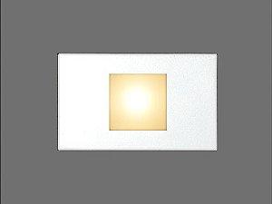 Balizador de Embutir LED 1W Bivolt Quadrado Bali