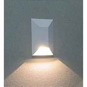 Balizador de Embutir LED 1W Bivolt Retangular Onix
