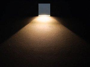 Balizador de Embutir LED 1W 5V Quadrado Slim