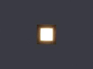 Balizador de Embutir LED 0,5W 5V ,127V ou 220V Quadrado Squadro One