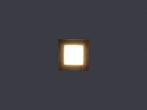 Balizador de Embutir LED 1W Bivolt Quadrado Squadro Four