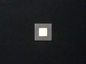 Balizador de Embutir LED 0,5W 5V ,127V ou 220V Quadrado Square