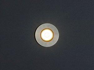 Balizador de Embutir LED 0,5W 5V Redondo Stilo