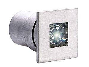 Balizador de Embutir LED 1W 5V Quadrado Uplight