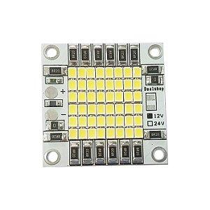 Módulo LED Branco Frio 6000K 50W 12Vcc 48*2835 SMD 40x40mm Base Alumínio