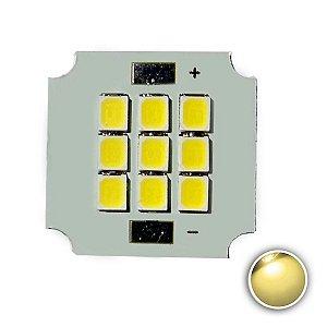 Módulo LED 10W 20x20mm Branco Quente 3000K K2804