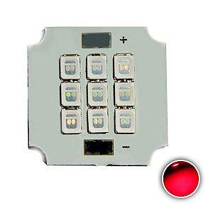 Módulo LED 10W 20x20mm Vermelho 620-630nm K2806