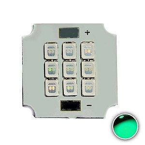 Módulo LED 10W 20x20mm Verde Ciano K2815