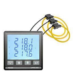 Medidor trifásico multifuncional com 3 bobinas Rogowski MFC150 UPM309RGW