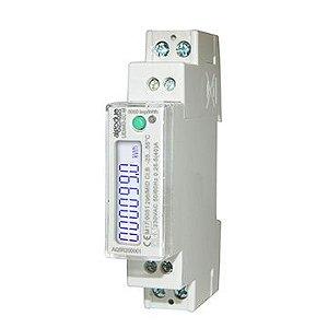 Medidor de energia 2 fios monofásico 40A UEM40-2C R 230V