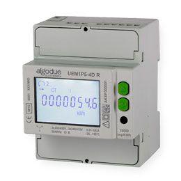 Contador de energia trifásico 6A com comunicação embutida UEM1P5-4D R