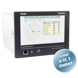 Analisador de qualidade de energia Classe A DIN 192x144 para CTs PQM4000