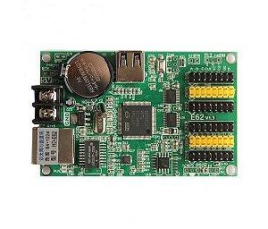 Placa Controladora HD-E62 4xHUB12 + 2xHUB08 Para Painel LED K2834