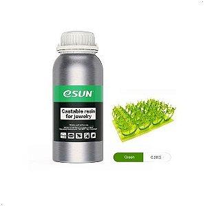 Resina para Impressora 3D Calcinável para joalheria 500g Verde E0039