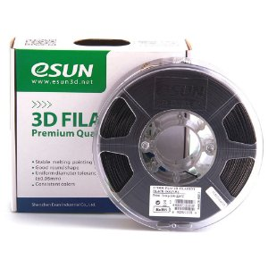 Filamento Impressora 3D PLA+ 1.75mm 1kg Premium Preto Esun E0001
