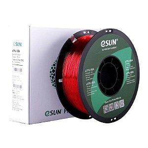 Filamento eTPU 95A 1.75mm 1kg Vermelho Translúcido E0023