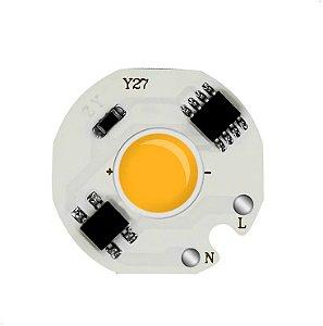 Modulo LED COB 12W Amarelo Âmbar 27mm 110V 127V K2841