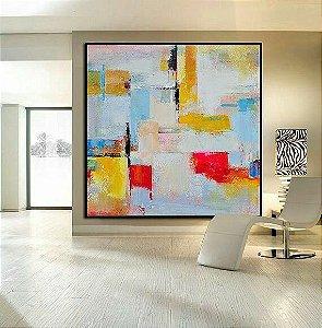 Pintura em tela Abstrato Moderno JK263