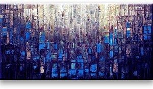 Pintura em tela - Abstrato moderno - Tam. 120x60 cm