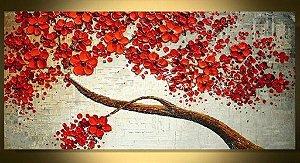 Pintura em tela - Árvores - Tamanho 120cm x 60cm