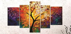 Quadro Pintura em Tela Abstrato - Tam. 150x80 cm