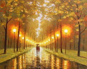 Quadro pintura tela releitura Leonid - Tam. 90 cm (A) x 140 cm (C)