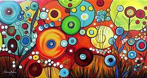Quadro Decorativo Pintura em tela Abstrato Moderno Tam. 120x60cm