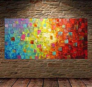 Pintura em tela - Abstrato moderno colorido