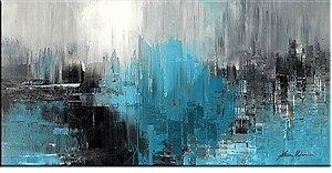 Quadro - Pintura em tela abstrato moderno espatulado