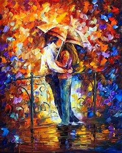 Pintura em tela Releitura de Leonid - Casal de namorados 85 x 70