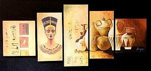 Quadro Pintura em Tela Egito Antigo