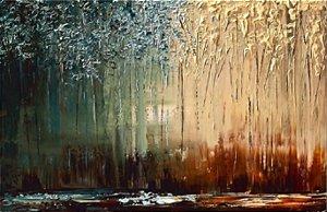 Quadro  Pintura em Tela Abstrato Moderno Espatulado