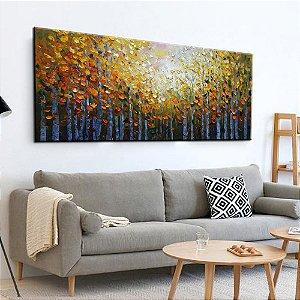 Quadro Decorativo Pintura em Tela Árvores Modernas