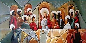 Pintura em tela - Santa ceia 120 x 60