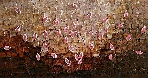 Pintura em tela tulipas Rosa Perfeito.