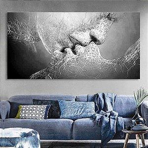 Pintura em tela painel O Beijo  60cm x 120cm