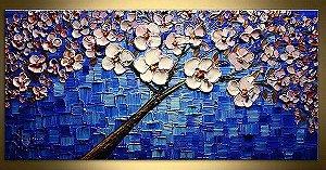 Pintura em tela Árvores Florais 200cm X 110cm
