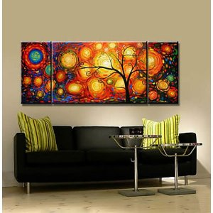 Pintura em tela Abstrato Moderno R$ 550,00