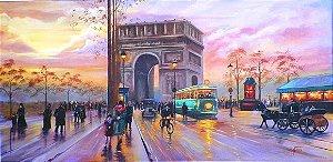 Pintura em tela-Paris 140 cm x 80 cm
