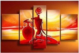 Pintura em tela quadro deserto africano 100 cm x 170 cm