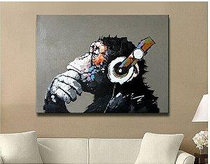Pintura em tela Quadro Chimpanzé 110 X 150