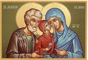 Pintura Sagrada Família de Jesus 90 x 70