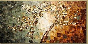 Quadro Pintura em tela Abstrato árvore luz