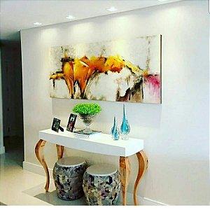 Quadro Pintura em Tela Abstrato Moderno 60 X 120 cm