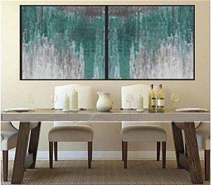 Tela em 2 painéis abstrato moderno -  Tam. 240 cm x 120 cm